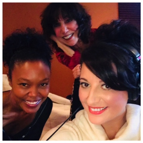 Recording session with Dana Rice and Anna Brooke