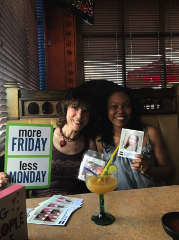 "Cowriter Dana Rice and I celebrating the release of ""Monday Is Coming"""