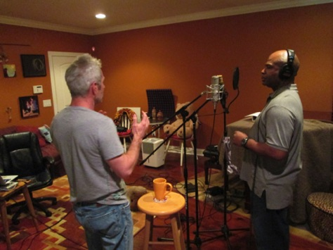 Jan Hrkach & J Donte prepping for vocal recording
