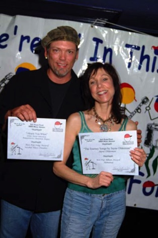 "Darren Rogers and I won and placed 2nd for Just Plain Folks. ""Goin Back"" & ""I Knew You When"""
