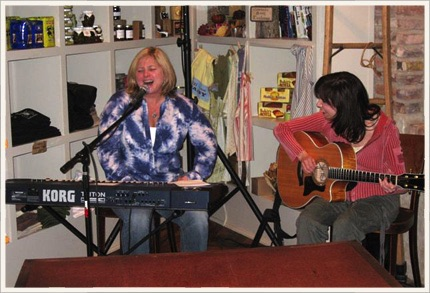 With Diane Durrett performing at Serenbe (South of Atlanta)