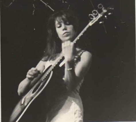 Performing at Southern Connecticut State College with my Ovation guitar 1970s