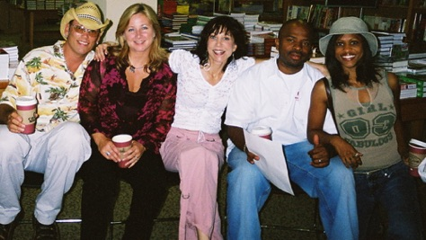 CD release party at Borders. Darren Rogers, Diane Durrett, me, J Donte, Katrina Willis